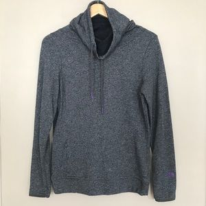 The North Face Grey Purple Cowl Neck Sweater Med